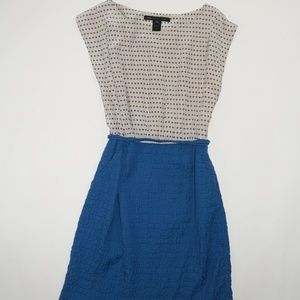 Marc by MARC JACOBS Blue Silk Belted Dress